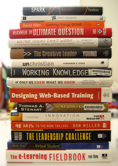 Reading List for creativity, innovation, online learning, and more.